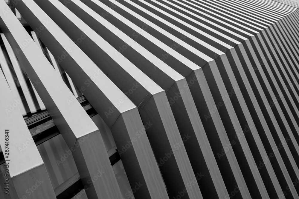 Close-up of abstract architectural structure
