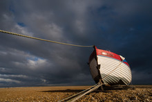 Boat On Shingle Beach, Dungeness, Kent