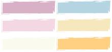 Vector Paint, Set Rectangles Brush Stroke, Brush, Line Or Texture.