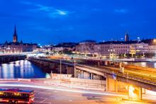 Slussen At Night, Stockholm, S...