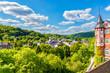 canvas print picture - Blick über Gemünd Richtung Urfttal in der Eifel