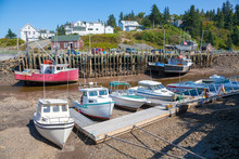 Low Tide  Fishing Boats At Hal...
