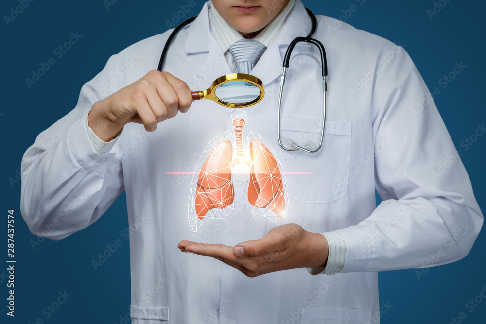 Fototapety, obrazy: The concept study of the lung of the patient.
