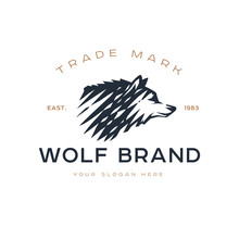 Logotype Of The Wolf.
