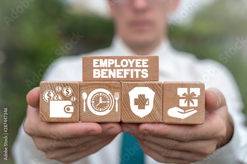 Employee Benefits Reward Encouraging Business concept. Wallpaper Mural