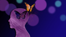 Graphic Dreaming Butterfly Thought Escapes Iconic Opening In Mind
