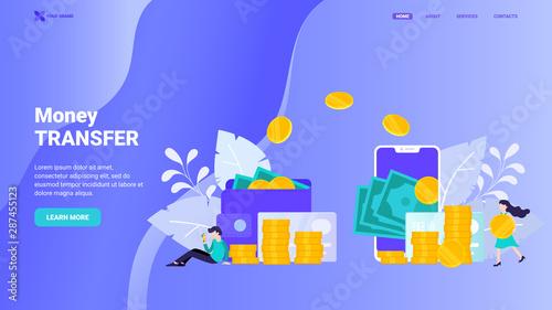 Money Transfer Landing Page Template