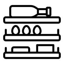 Refrigerator Shelves Icon. Out...