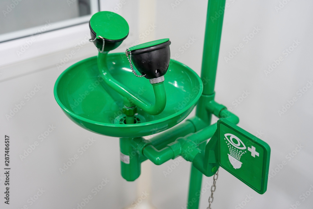 Fototapety, obrazy: Symbol of Eye wash and Emergency eye washing unit for chemical accident