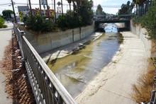 Urban Ballona Creek In Los Ang...