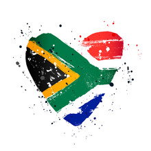 South African Flag In The Form...