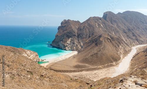 Fotomural View to Hidden Beach near Mughsayl (Salalah) from Sultan Qaboos Street Sultanate