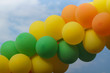 festive multi-colored garland of balloons