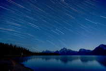 Star Trails Over The Grand Tet...