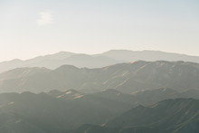 View Of The Santa Ynez Mountains From Camino Cielo, In Los Padres National Forest, Near Santa Barbara, California