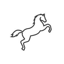 Horse Vector Line Icon