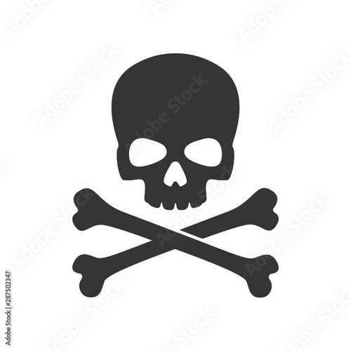 skull and crossbones of pirate flag Canvas Print