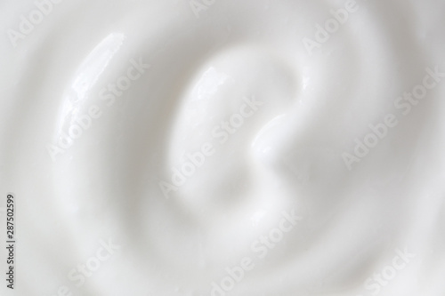 Fotomural  Greek yogurt, sour cream texture