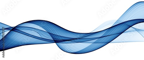 Tuinposter Abstract wave Color light blue abstract waves design