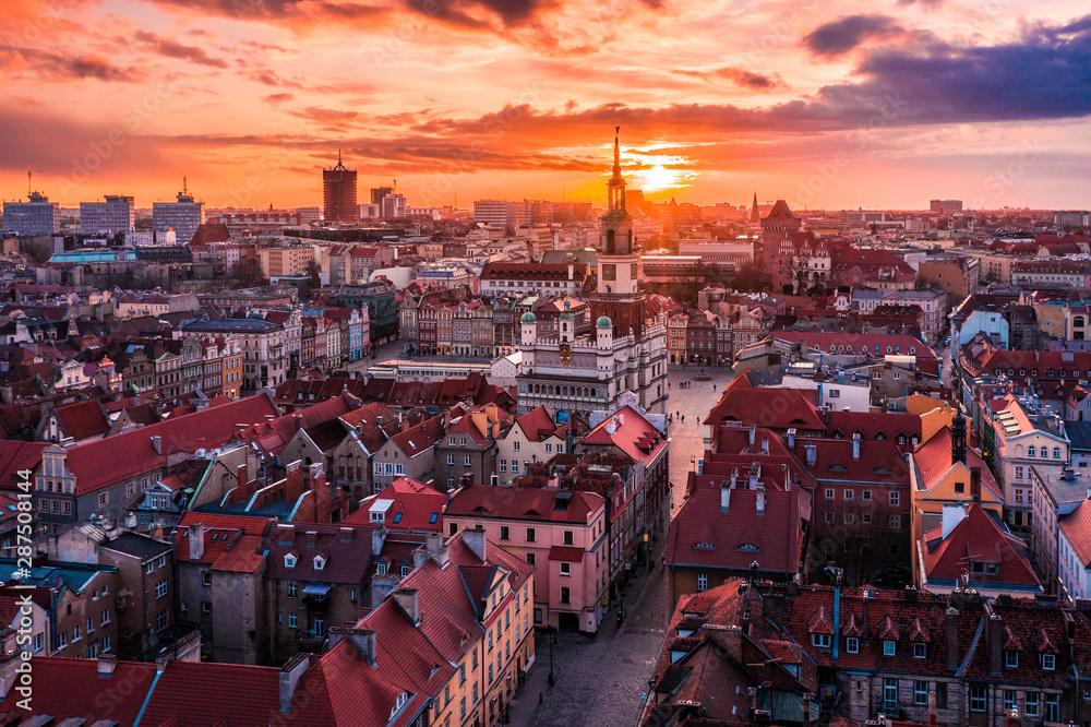 Fototapeta Poznań z lotu ptaka