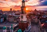 Fototapeta Miasto - Poznań z lotu ptaka