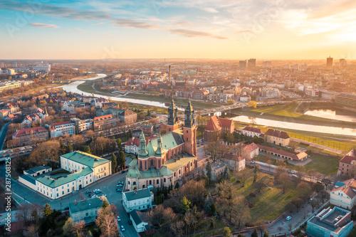 Fototapeta Poznań z lotu ptaka obraz