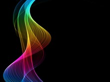 Abstract Rainbow Light Wave Futuristic Background