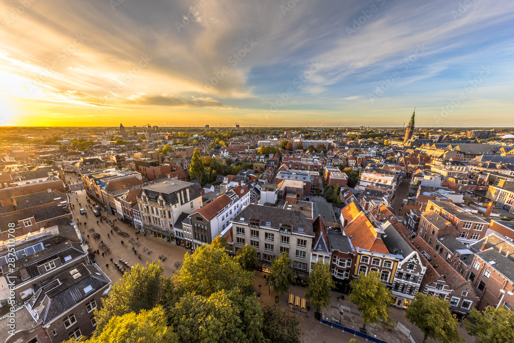 Fototapety, obrazy: Skyline of historic Groningen city