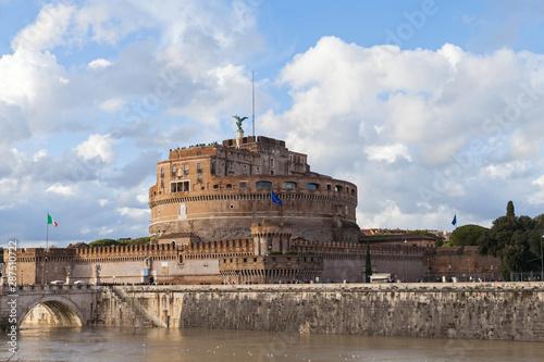 Obraz na plátně  Sant Angelo castle, Rome
