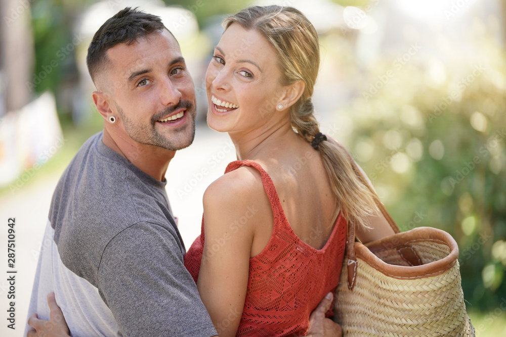 Fototapety, obrazy: Portrait of young in love couple