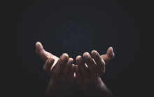 Praying Hands With Faith In Re...