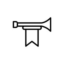 Fanfare Line Vector Icon