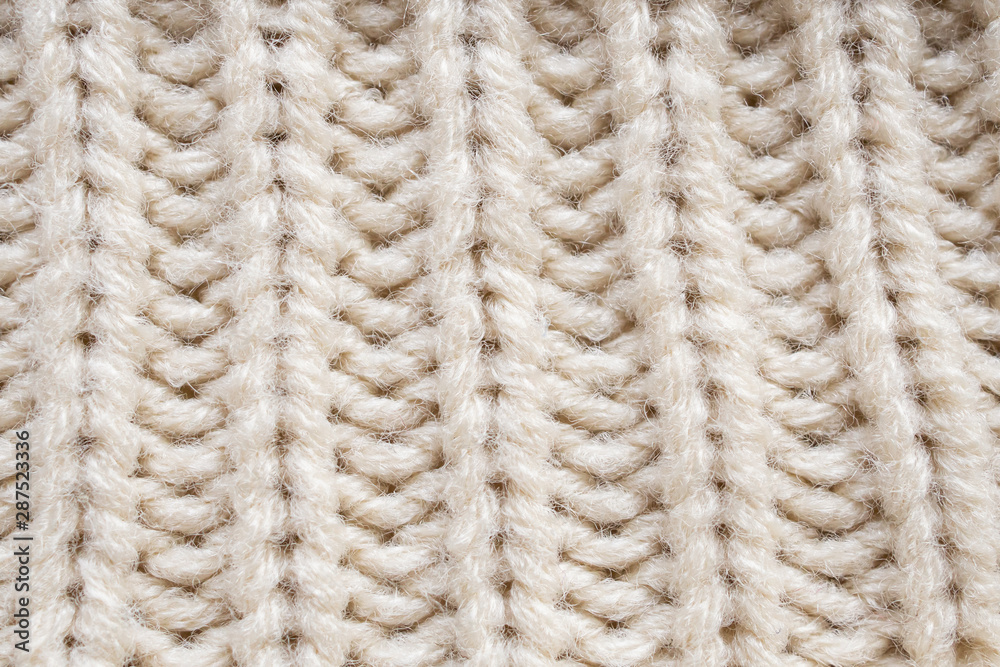 Fototapety, obrazy: knitted wool fabric texture background