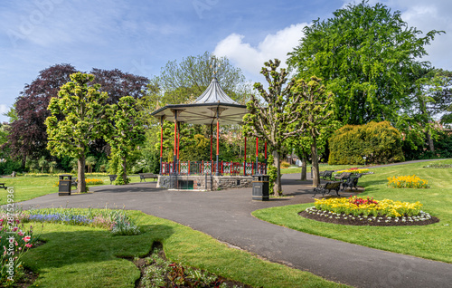 Victorian bandstand in a Park Canvas Print