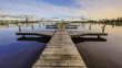 Empty wooden recreational jetty