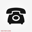 Call icon in trendy flat style isolated on background.
