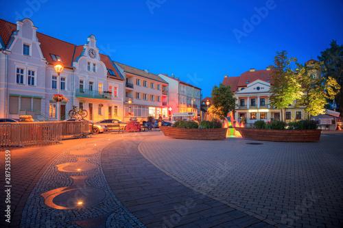 Deurstickers Oost Europa Main Square in Mikolajki
