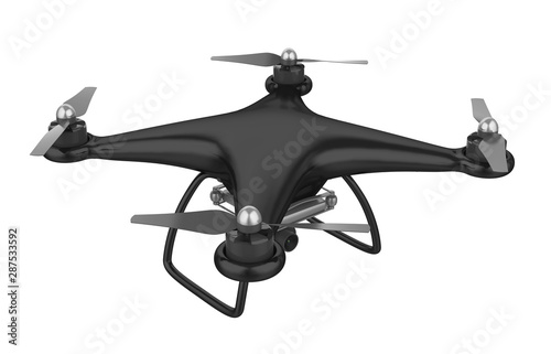 Drone Quadcopter Isolated Fototapet