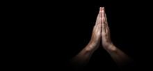 Man Hands In Praying Position ...