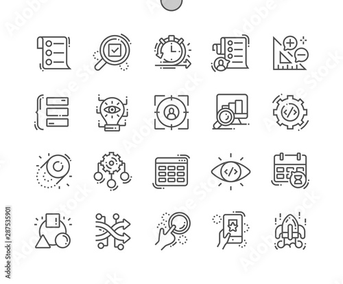 Fotografía  Agile development Well-crafted Pixel Perfect Vector Thin Line Icons 30 2x Grid for Web Graphics and Apps