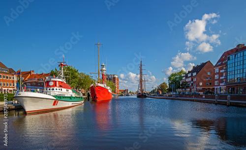 Fotografiet Emden Ostfriesland Hafen Panorama Quer
