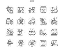 Food Truck Well-crafted Pixel Perfect Vector Thin Line Icons 30 2x Grid For Web Graphics And Apps. Simple Minimal Pictogram