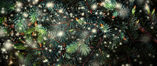 Christmas Tree Branches With S...