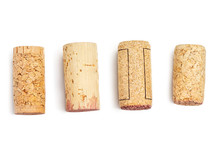 Wine Corks Isolated On White B...