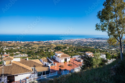 Fototapeta townscape of Mijas in Andalusia