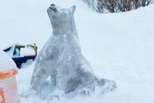 Fairy Ice Figure Of Gray Wolf ...