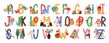 English Alphabet With Cute Ani...