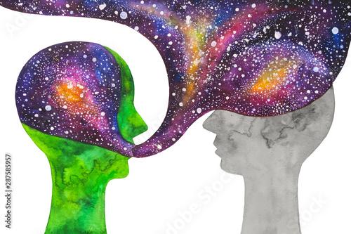 dipinto acquerello astronomia cosmo scienza Poster Mural XXL