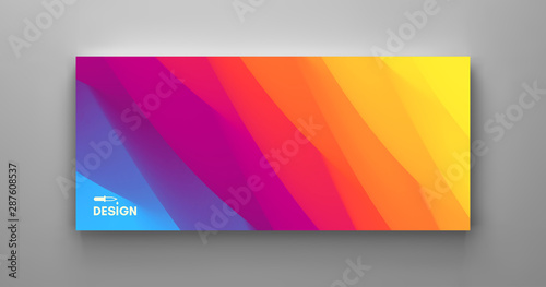 Cover design template with color gradients Canvas Print
