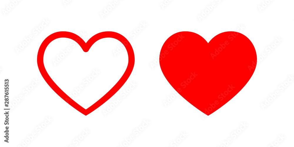 Fototapeta Heart vector icon. Love symbol illustration.